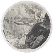 The Iron Mine Round Beach Towel