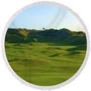 The Island Golf Club - Hole #5 Round Beach Towel