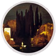 The Isle Of The Dead 1880 Round Beach Towel