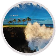 The Jack Nicklaus Signature Hualalai Golf Course Round Beach Towel