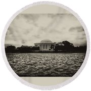 The Jefferson Memorial Round Beach Towel by Bill Cannon