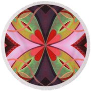 The Joy Of Design 42 Arrangement 1 Round Beach Towel