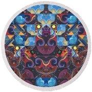 The Joy Of Design Mandala Series Puzzle 6 Arrangement 8 Round Beach Towel