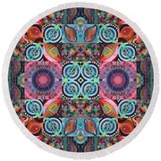 The Joy Of Design Mandala Series Puzzle 7 Arrangement 1 Round Beach Towel