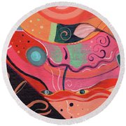 The Joy Of Design X L V I I I Upside Down Round Beach Towel