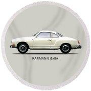 The Karmann Ghia Round Beach Towel