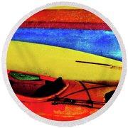 The Kayaks Round Beach Towel