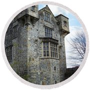 The Keep At Donegal Castle Ireland Round Beach Towel