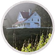 The Keepers House 2 Round Beach Towel