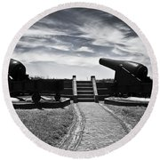 The Keepers Of Peace Round Beach Towel