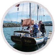 The Ketch Golden Rule Round Beach Towel