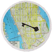 The Key To The City Round Beach Towel