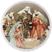 The King Of Kings Round Beach Towel