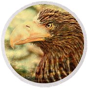 The King Of The Skies Round Beach Towel