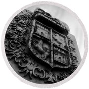 The Kings Crest Round Beach Towel