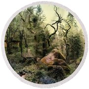 The King's Forest Round Beach Towel