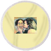 The Kiss Round Beach Towel