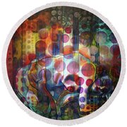 The Kiss - Woods And Sea Round Beach Towel