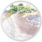 The Knob In Falmouth Round Beach Towel
