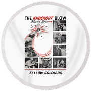 The Knockout Blow Starts Here Round Beach Towel