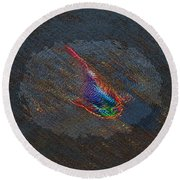 The Koi Cometh Round Beach Towel