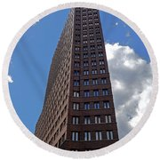 The Kollhoff-tower ...  Round Beach Towel