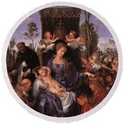 The Lady Of The Festival Du Rosaire Fragment Round Beach Towel