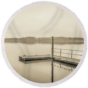 The Lake #22 Round Beach Towel