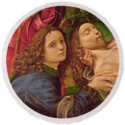 The Lamentation Of Christ Round Beach Towel