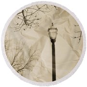 The Lampost Round Beach Towel