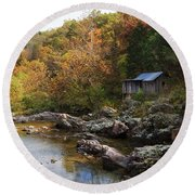 The Landscape By Klepzig Mill Round Beach Towel
