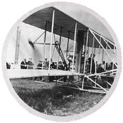 The Langley Airplane Round Beach Towel