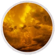 The Last Glow Of The Day 008 Round Beach Towel