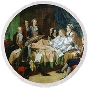 The Last Hours Of Mozart 1756-91 Henry Nelson Oneil Round Beach Towel