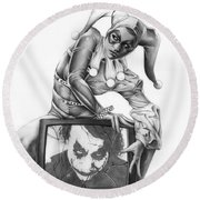 The Last Laugh Round Beach Towel by Pete Tapang