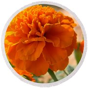 The Last Marigold Round Beach Towel