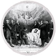 The Last Moments Of President Lincoln Round Beach Towel by Photo Researchers