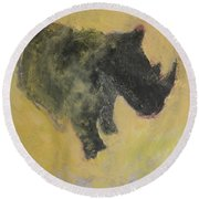 The Last Rhino Round Beach Towel