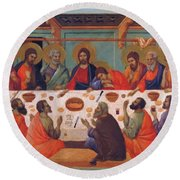 The Last Supper 1311 Round Beach Towel
