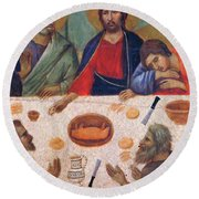 The Last Supper Fragment 1311 Round Beach Towel