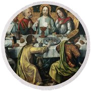 The Last Supper Round Beach Towel by Godefroy