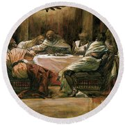 The Last Supper Round Beach Towel by Tissot