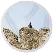 The Last Toll Taker Round Beach Towel