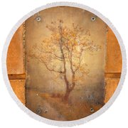 The Last Tree Round Beach Towel