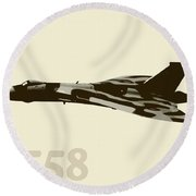 The Last Vulcan Xh558 Round Beach Towel