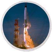The Launch Of The Mercury Atlas Round Beach Towel