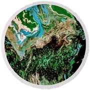 The Lay Of The Land Round Beach Towel