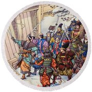 The Legend Of The Forty-seven Ronin Round Beach Towel