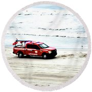 The Lifeguard Truck Round Beach Towel