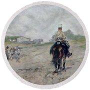 The Light Cavalryman Round Beach Towel